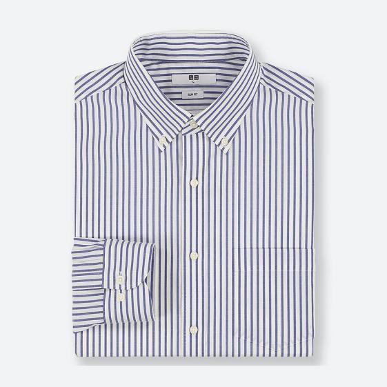 门店自提:39元 优衣库 男子秋季条纹衬衫